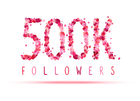 followers: 500K (five hundred thousand) followers. Pink rose petals