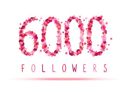 followers: 6000 (six thousand) followers. Pink rose petals