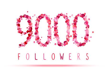 followers: 9000 (nine thousand) followers. Pink rose petals