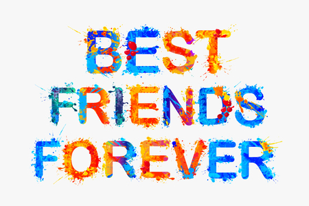 Best friends forever. label to be printed on two T-shirts Illusztráció