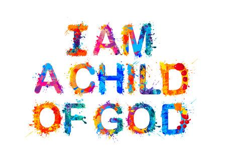 Jestem dzieckiem Boga. Wektor powitalny farby