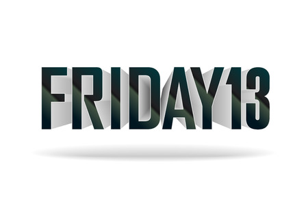 Friday 13. Vector inscription on white background