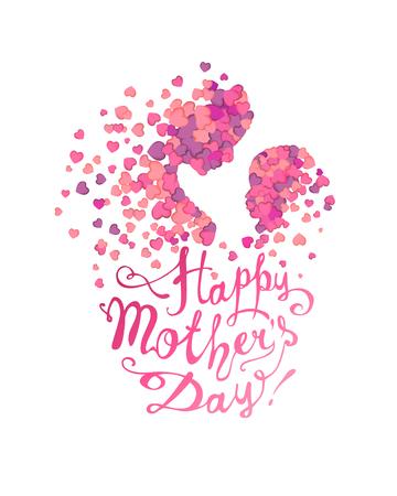 幸せな母の日!女性と赤ちゃんの心の