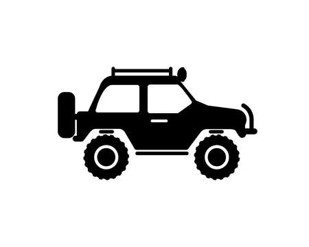jeep: Jeep travel vector icon on white background Illustration