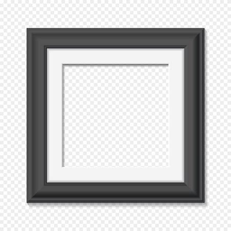 Vertikale quadratischen schwarzen Rahmen, realistische Vektor-Illustration Vektorgrafik