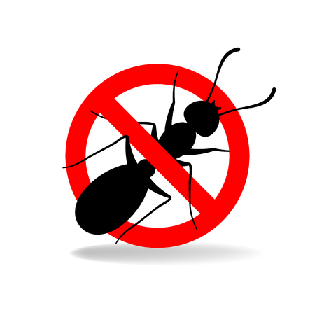 Anti ant (no ants) vector sign for insecticide Illustration