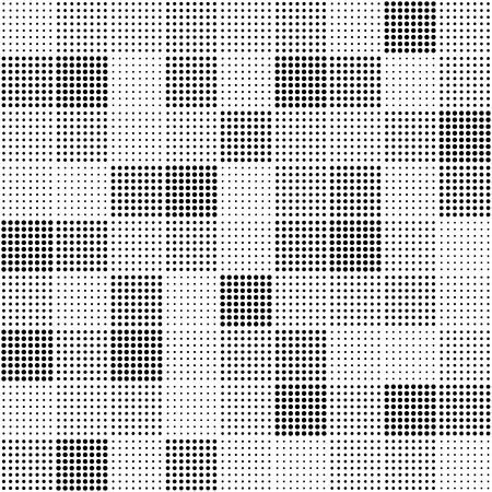 Seamless vector pattern - squares of different diameters points