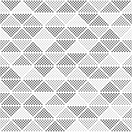 Seamless vector pattern - trianglesof different diameters points