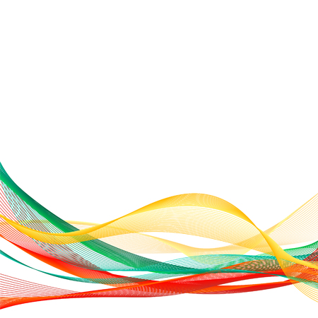 Vector template linear background with tricolor to celebrate October 25 - Constitution Day of Lithuania Ilustração