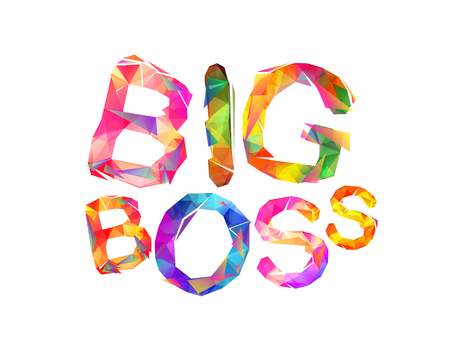 Big boss in vector inscription of triangular letters
