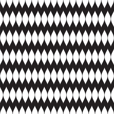 Abstract seamless geometric pattern - black on white Pointed Mesh