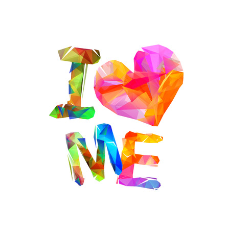Multicolored i love me quote isolated.