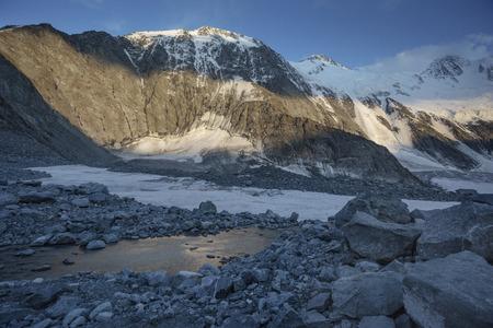 Akkem river near foothill of Beluha mountain. Altai. Russia