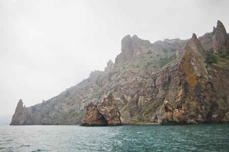 Golden Gate Arch in the reserve Karadag in Crimea