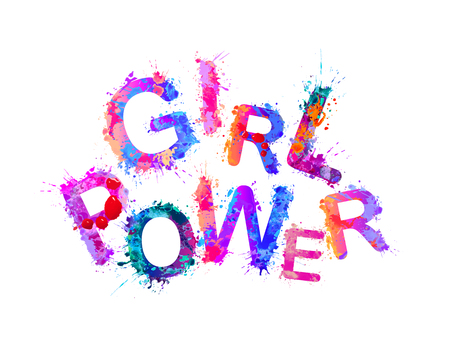 Girl power. Vector inscription of splash paint letters Illustration