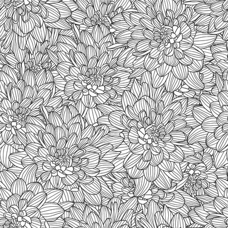 Chrysanthemum sketch icon.