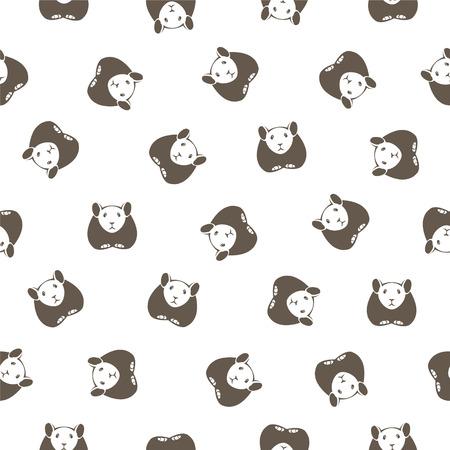 Altai pika vector seamless pattern. Иллюстрация