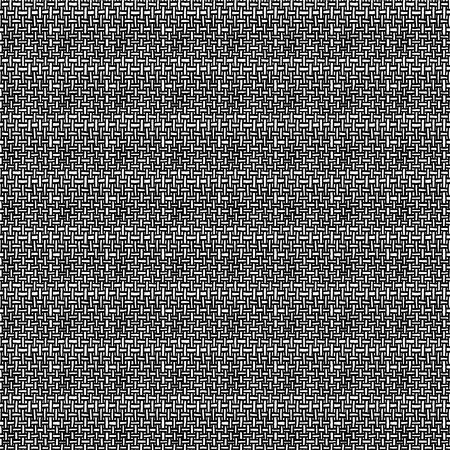 Vector abstract seamless pattern - linear weave doodle background Ilustração