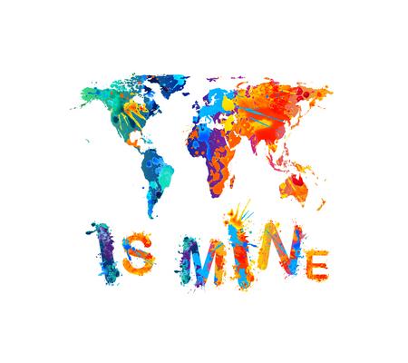 World is mine text vector illustration.