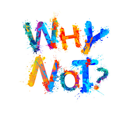Why not? Vector inscription of splash paint letters Illustration