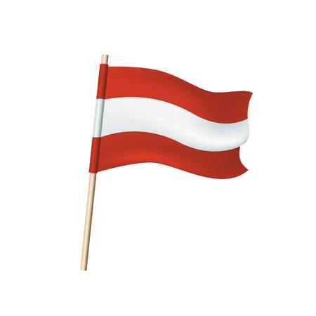 Austria flag (red and white stripes). Vector illustration