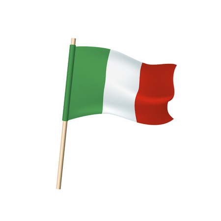 Italy flag (green, white and red vertical stripes). Vector illustration Standard-Bild - 93817027