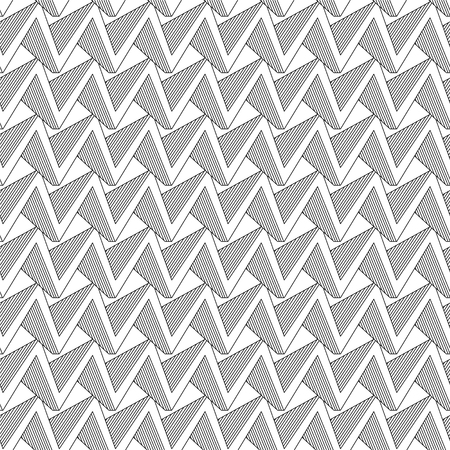 Vector abstract linear seamless pattern - zig zag geometric background Vetores
