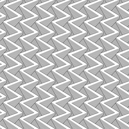 Vector abstract linear seamless pattern - vertical zig zag geometric background