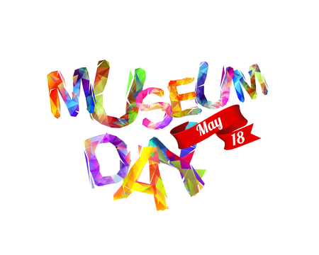 International Museum Day. May 18. Triangular letters Illustration