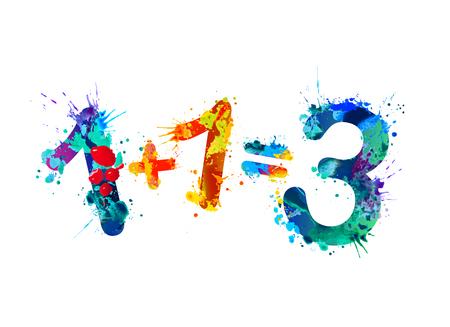 1+1=3.1 プラス 1 は 3 に等しくなります。プロモーション: 2 つの価格で 3 写真素材 - 97986900