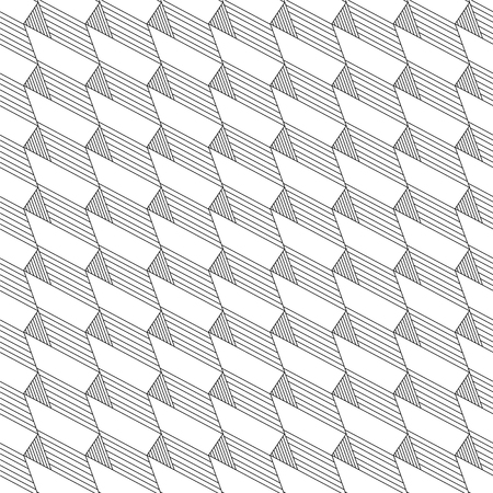 Vector abstract linear seamless pattern. Geometric background