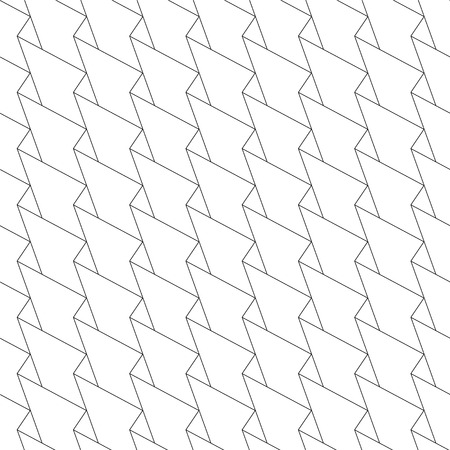 Vector abstract linear seamless pattern. Zig zag geometric background