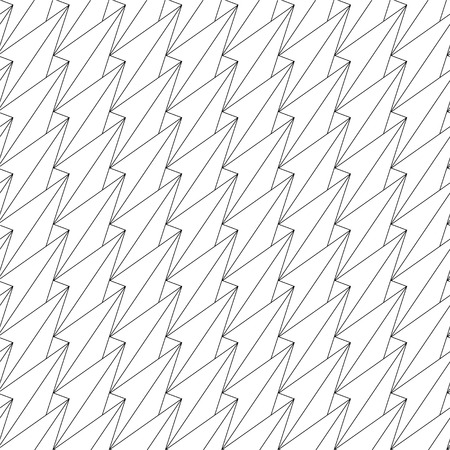 Vector abstract seamless pattern of linear triangular background