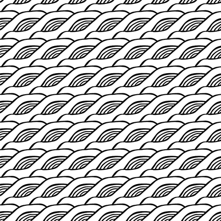 Vector seamless black and white abstract pattern