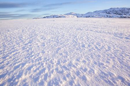 Snow desert. Kola Peninsula winter day landscape