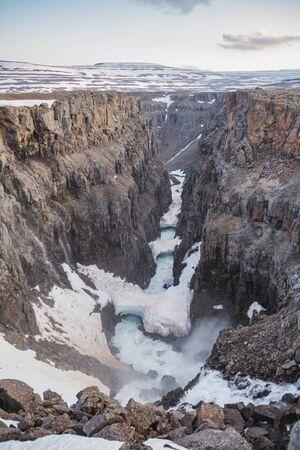 Hikikal River Canyon in Putorana Plateau, Taimyr. Russia, Siberia