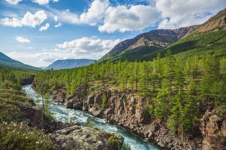 Hoisey River Gorge of Putorana Plateau, Taimyr. Russia, Siberia Stock Photo