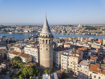 Galata tower. Istanbul city landscape aerial view Stock Photo