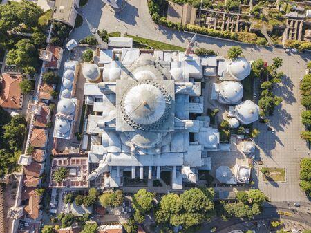 Hagia Sophia Museum in Istanbul. Top view