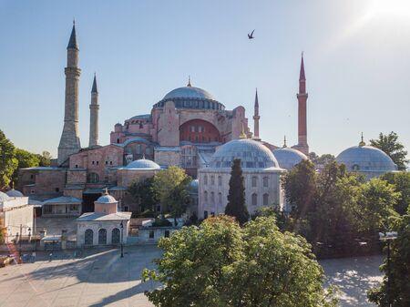 Hagia Sophia in Istanbul. Historical famous building