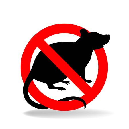Anti rat simple vector sign for insecticide