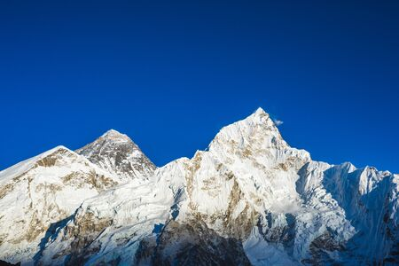 View of the Everest from Kala Patar Mount. Nepal Stock Photo