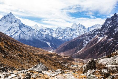 Sagarmatha national park, Nepal on the way to Everest base camp. 写真素材