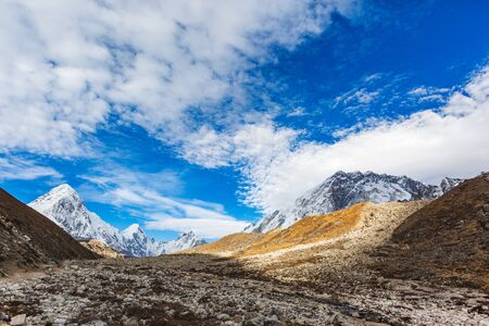 Way to Everest base camp. Sagarmatha national park, Nepal 写真素材