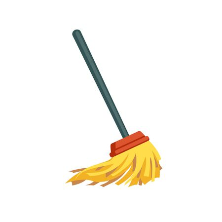 Vector mop on white background. Cleaning symbol  イラスト・ベクター素材