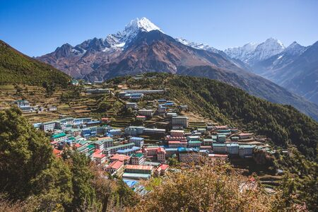 Namche Bazar Village. Nepal, Sagarmatha National Park
