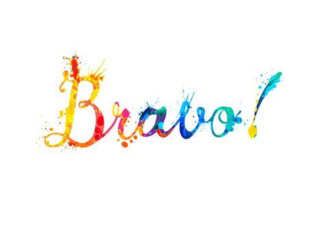 Bravo. Vector word of calligrapic splash paint letters