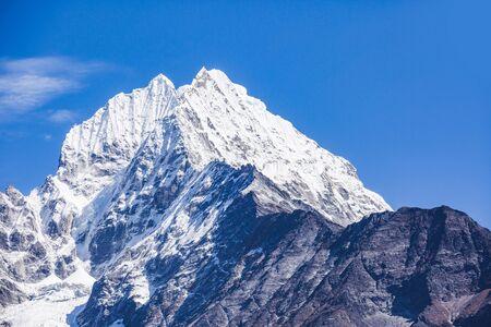 Mount Thamserku, Nepal. View from Namche Bazar Village