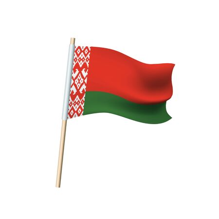 Vector flag of Belarus on white background