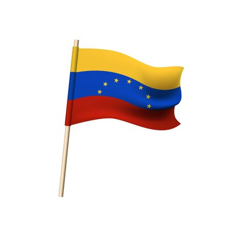 Flag of Venezuela. 7 stars on yellow, blue and red stripes. Vector illustration Illustration